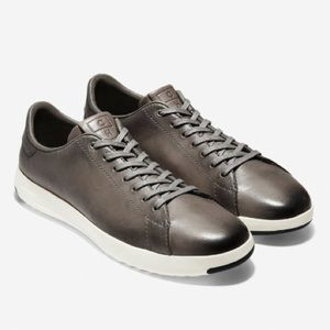 Cole Haan Grandpro Gray Leather Tennis Shoes